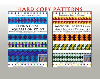 This listing is for Lillie / Sawtooth Borders and Half Square Triangles, and Flying Geese and Squares on Point