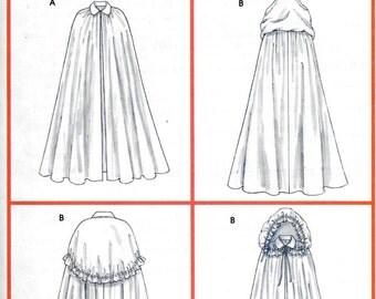 McCalls M4698 Misses Renaissance SCA Hooded Cape Cloak Costume Pattern 4698 UNCUT Size L, XL
