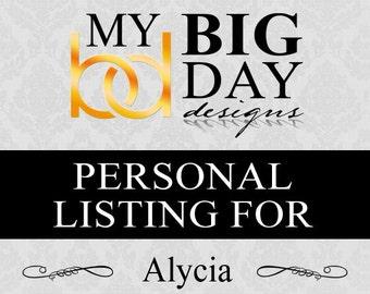 Alycia's RSVP cards: 100