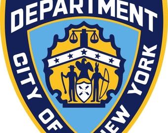 Set of 50 Edible NYPD badge prints