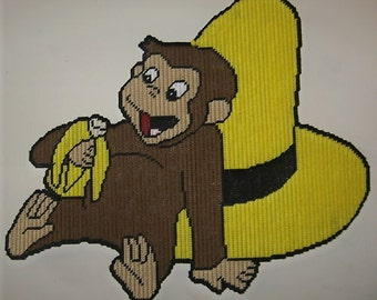 Curious George 2 Plastic Canvas Pattern