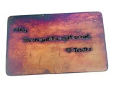 Copper Wallet Insert Card , Wallet Insert Card , Hand Stamped , MAN CARD  , Boyfriend Gift, husband gift, 8th anniversary,  ,