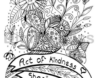 coloring pages acts of kindness - doodle adult coloring pages printable coloring pages zen art floral mandala from