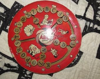 Vintage Spelling Board.