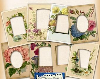 Digital Vintages Frames No 1, digital clip art frames, png files for scrapbooking and digital craft