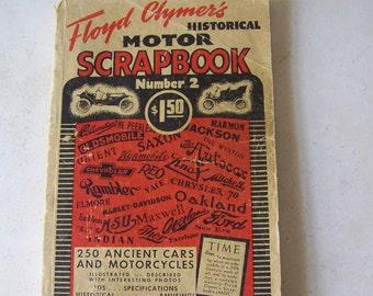 Vintage Floyd Clymer's Historical Motor Scrapbook Number 2 ca 1944