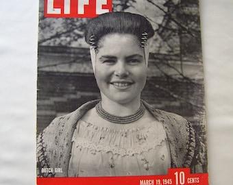 Vintage Life Magazine 1945 Dutch Girl Vintage Advertising Hats A La Mode Flooded Dutch Island Cigarette Advertisements