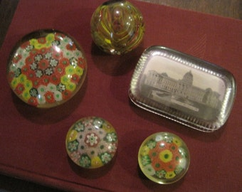 5 Antique Paperweights