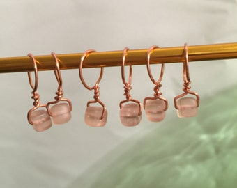 Wire wrapped, Beaded, Snag-less Stitch markers