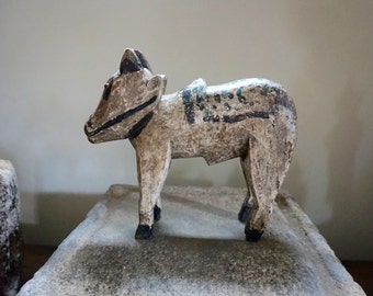 Wooden Nandi // Folk Art // India // Shipping Included