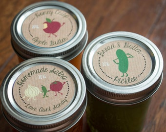 Custom Jam Labels for Mason Jars - Print Your Own