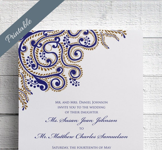 Indian wedding invitations printable by edenweddingstudio for Free printable hindu wedding invitations