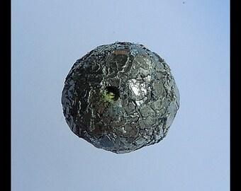 Natural Pendant,Pyrite Gemstone Pendant Bead,21x21mm,21g