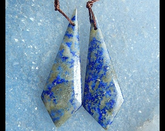 Lapis Lazuli Gemstone Earring Bead,42x14x4mm,7.52g