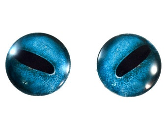 Octopus Glass Eyes - 25mm - Glass Eyes - Blue