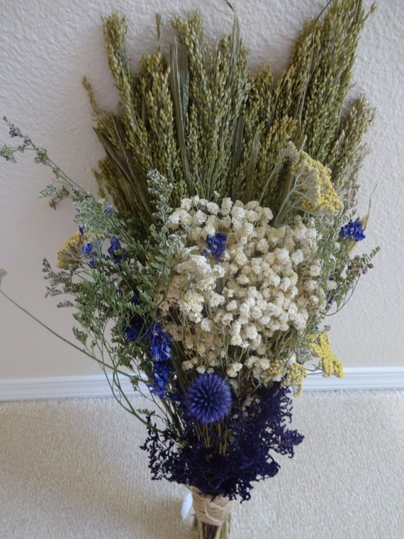 dried bridal bouquet dried flowers floral bouquet wedding