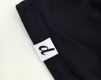 300 custom hem labels, custom hem tags, custom Clothing labels, custom Hem labels
