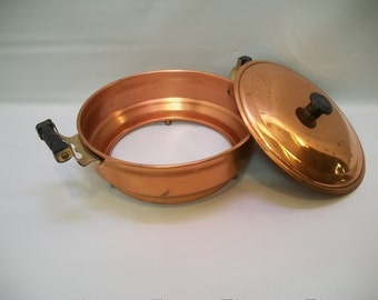 Vintage Pyrex Casserole Holder, Copper Casserole Stand, 1 1/2 Quart Bowl Copper Holder, Bowl Holder, Vintage Kitchen, Dinning and Serving