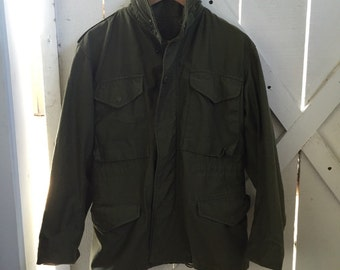 authentic 1979s vintage military army jacket OSFM