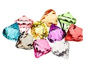 10 Clearance Bling Diamond Pendants Medium 27mm - color dye variation from normal colors