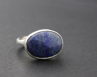 Lapis Lazuli Ring, Sterling Silver