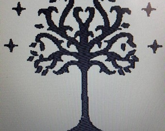 Embroidery for shirts elfs tree from Brotherhood of the Ring trilogie
