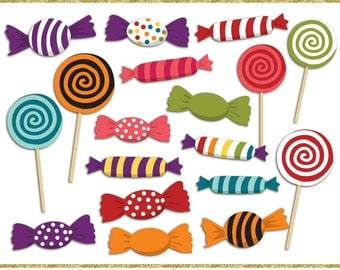 Candy clip art images,  halloween clip art,  halloween candy clipart, instant download