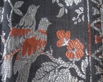 Vintage Textile Tablecloth Birds Scarf