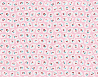SALE Milk Sugar Flower Pink Milk Drops Elea Lutz Penny Rose Fabrics Half Yard