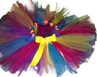 Rainbow Birthday Tutu-Rainbow-Rainbow Tutu-Birthday Tutu-Halloween