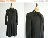 25% OFF SALE Vintage 1960s Coat / Grey Wool / Joseph Stein / Blum's Vogue Chicago