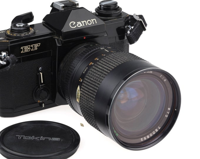 Canon EF - 35mm Film Camera with Tokina 28-85mm 1:4 and Tokina 80-200mm 1;4 / Fully Working!