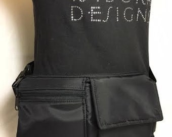 Fanny Pack, Utility Belt, Festival Belt, Pocket Belt, Bum Bag, Hip Bag, Festival Fanny Pack, Hipster Belt, FP11X5N-black