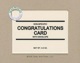 GENERIC CONGRATS CARD - Congratulations Card - Congratulations - Congrats - Generic - Card for Friend - Funny Card - Card - Item# C040