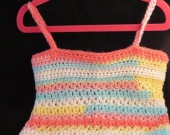 Crochet Tank Top-Size 4T-Multi-color