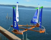 """2016 New (6) Sailboat Double Direction """"Go Hawks"""""""
