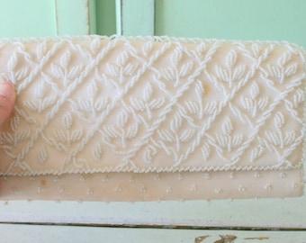 1960s BEADED Fancy Clutch Purse.....glam. gogo. beaded. princess. change purse. bag. 1960s. clutch. handbag. mod. fancy. twiggy. wedding.