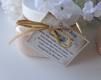 Queen Rose Milk Bath Powder, 10 oz Luxury Bath, Bath & Body Gift Set, Sensitive Skin, Skin Treatment