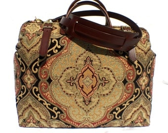 """Carpet Bag, """"The Countess """",Weekender / Overnight / Carry on / Countess Carpet Travel Bag"""