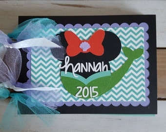 Personalized Disney Autograph Book Inspired by Ariel