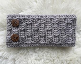 Crochet PATTERN - Digital pattern for Basketweave Headband headwrap earwarmer for women and girls