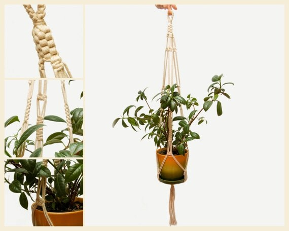 Macrame Plant Hanger Cotton Hanging Basket 36 By