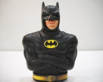 Vintage Batman Bank 1989 Premium DC Comics Plastic Piggy Bank