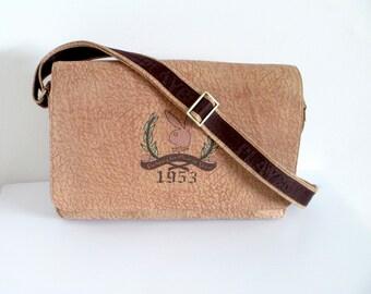 Vintage Leather // Suede Playboy Messenger // Laptop Bag