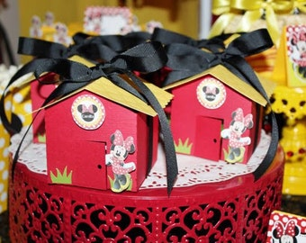 Minnie Mouse House Favor Box - Sweet Table Decor