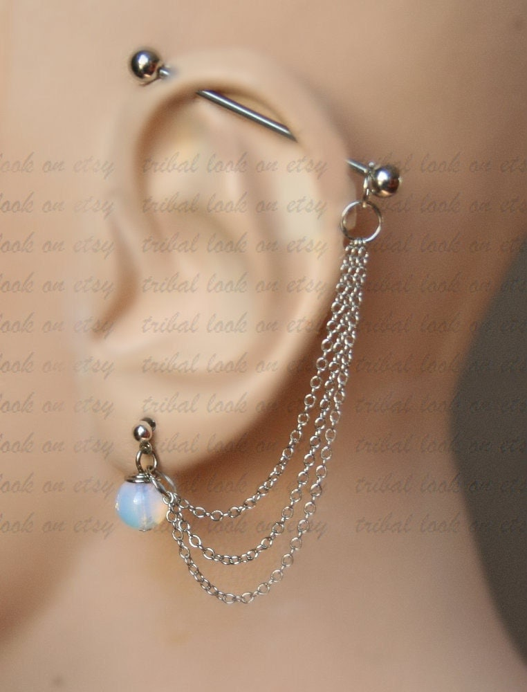 Industrial Barbell Industrial piercing Ear gauges Jewelry Ear Piercing Jewelry