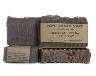 Chocolate Soap - Coffee Soap - Mocha Soap - Coffee Lover Soap - Cocoa Soap - Coffee Gifts - Coffee Lover Gifts - Chocolate Coffee Soap