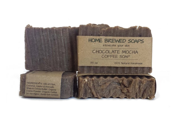 Chocolate Soap - Coffee Soap - Mocha Soap - Coffee Lover Soap - Cocoa Soap - Coffee Gifts - Coffee Lover Gifts - Chocolate Coffee Soap