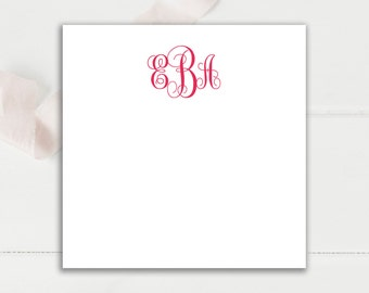 Square Monogrammed Notepad