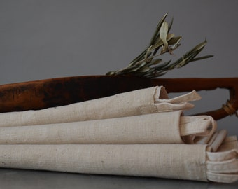 Set of 3 vintage rustic linen towels / farm house / primitive